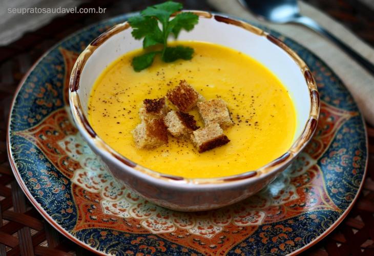 Creme dourado de batata doce 1
