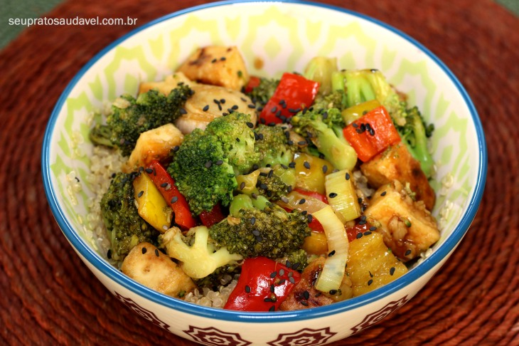 quinoa tofu e brocolis 4