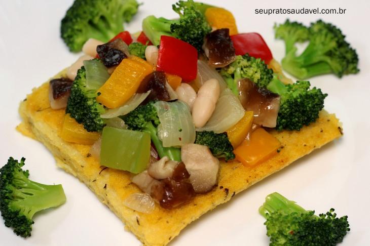 polenta com ervas e vegetais 1