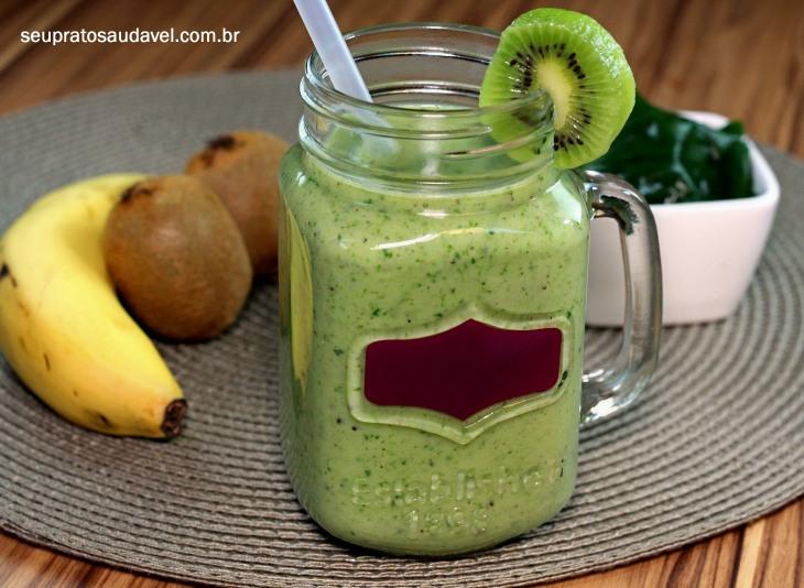 vitamina kiwi espinafre 4